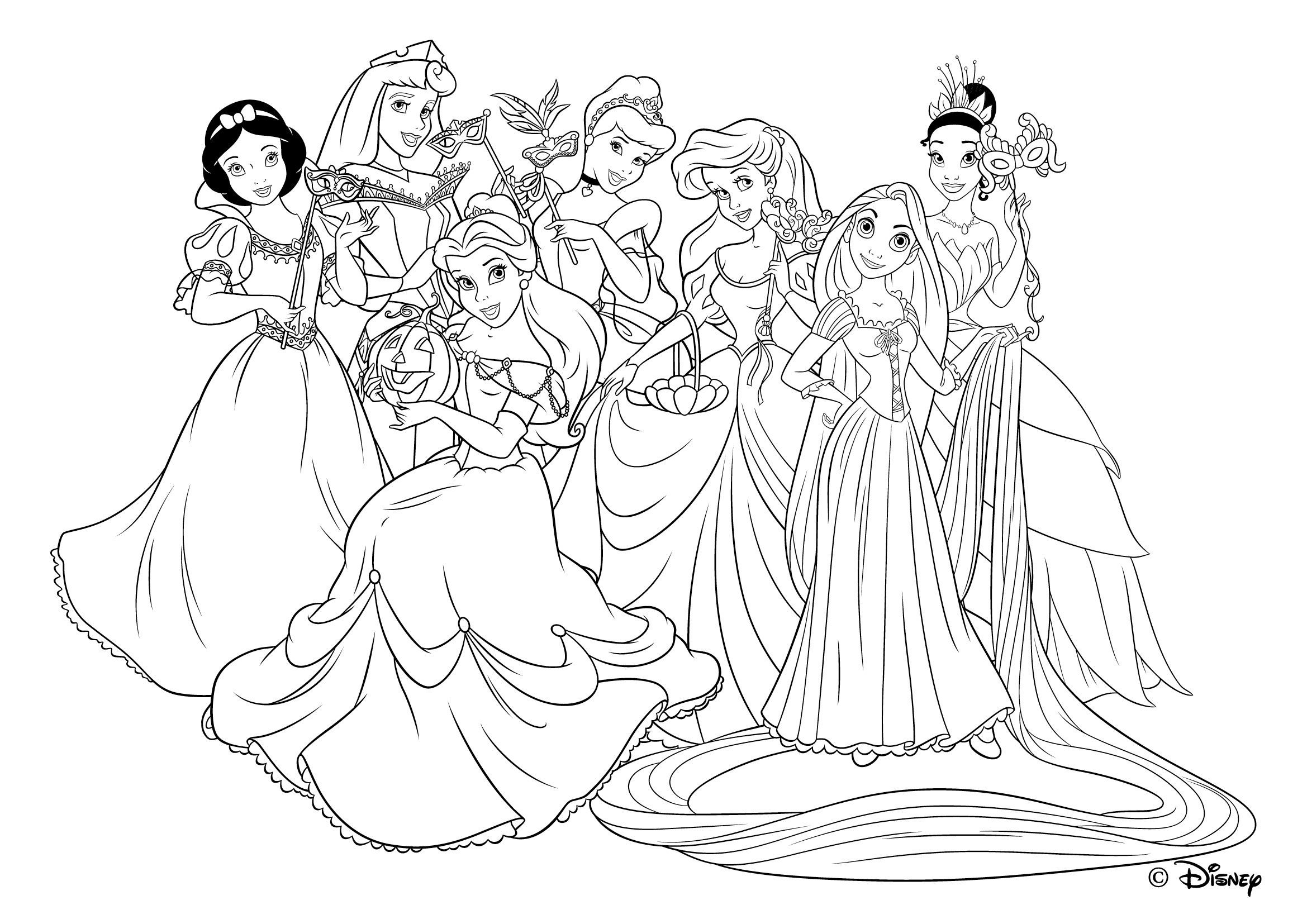 Collection De Coloriages Princesse Disney Awesome Coloriage   Imprimer Princesse Disney