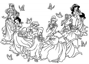 Collection De Coloriages Princesse Disney Awesome to Print This Free Coloring Page Coloring All Princesses