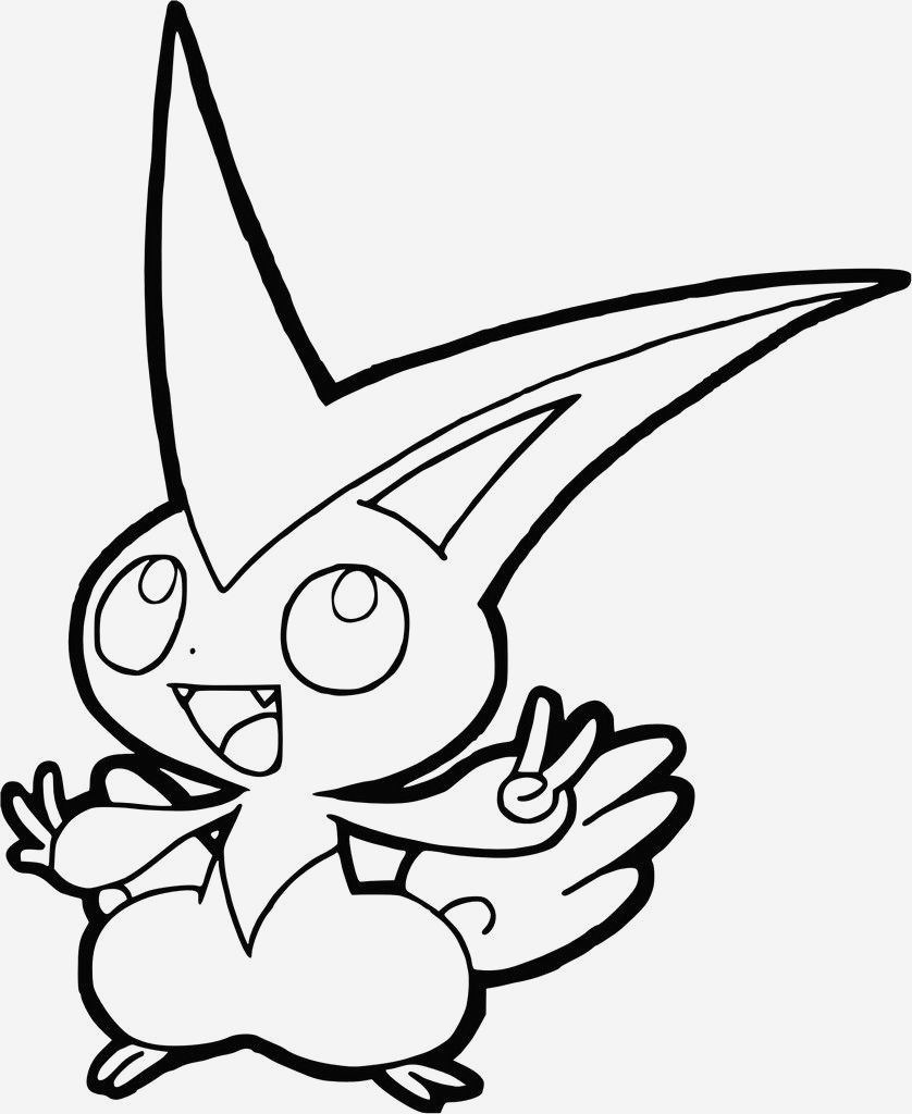 Coloriage à Imprimer Pokemon Legendaire Inspirational Coloriage Pokemon Legendaire Victini Of Coloriage à Imprimer Pokemon Legendaire