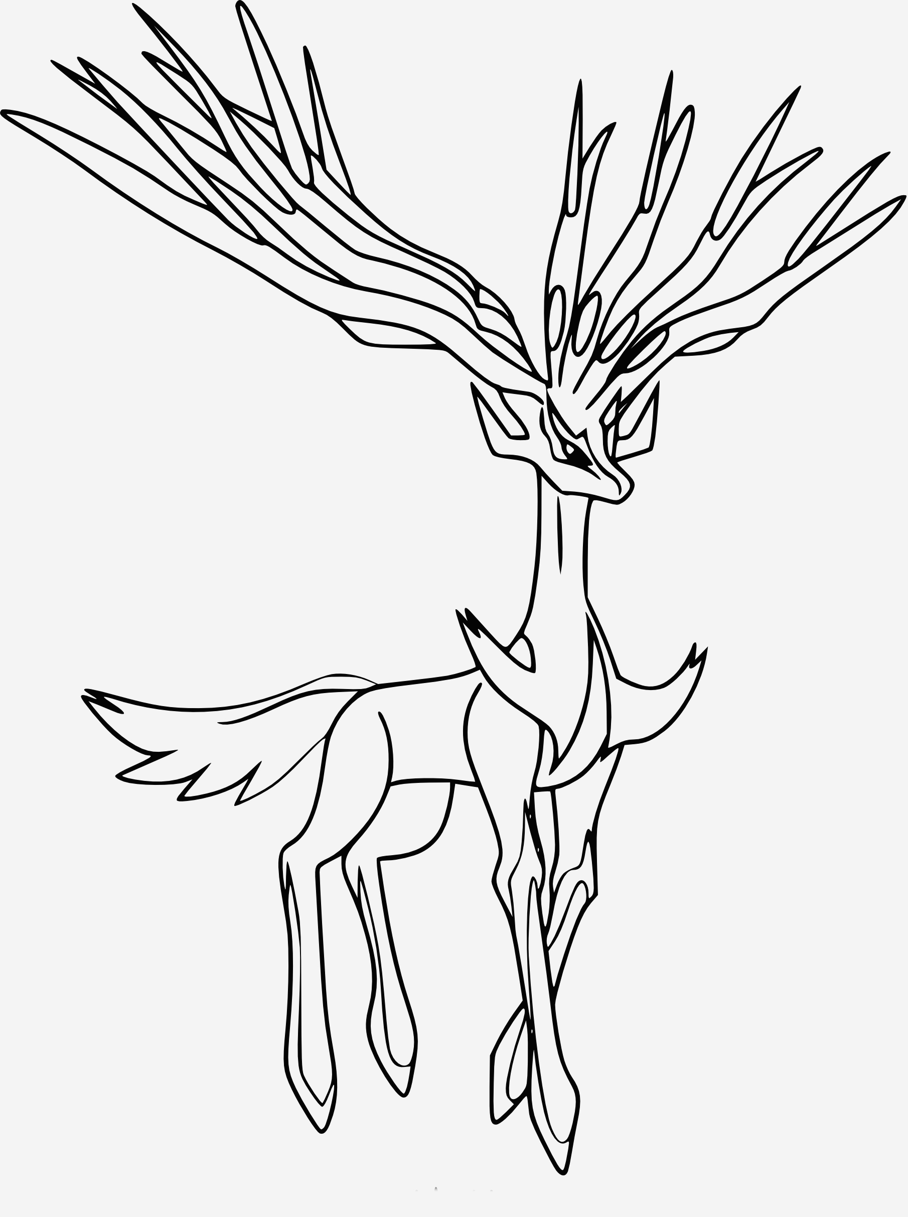 Coloriage à Imprimer Pokemon Legendaire Lovely Coloriage Xerneas Pokemon   Imprimer Of Coloriage à Imprimer Pokemon Legendaire
