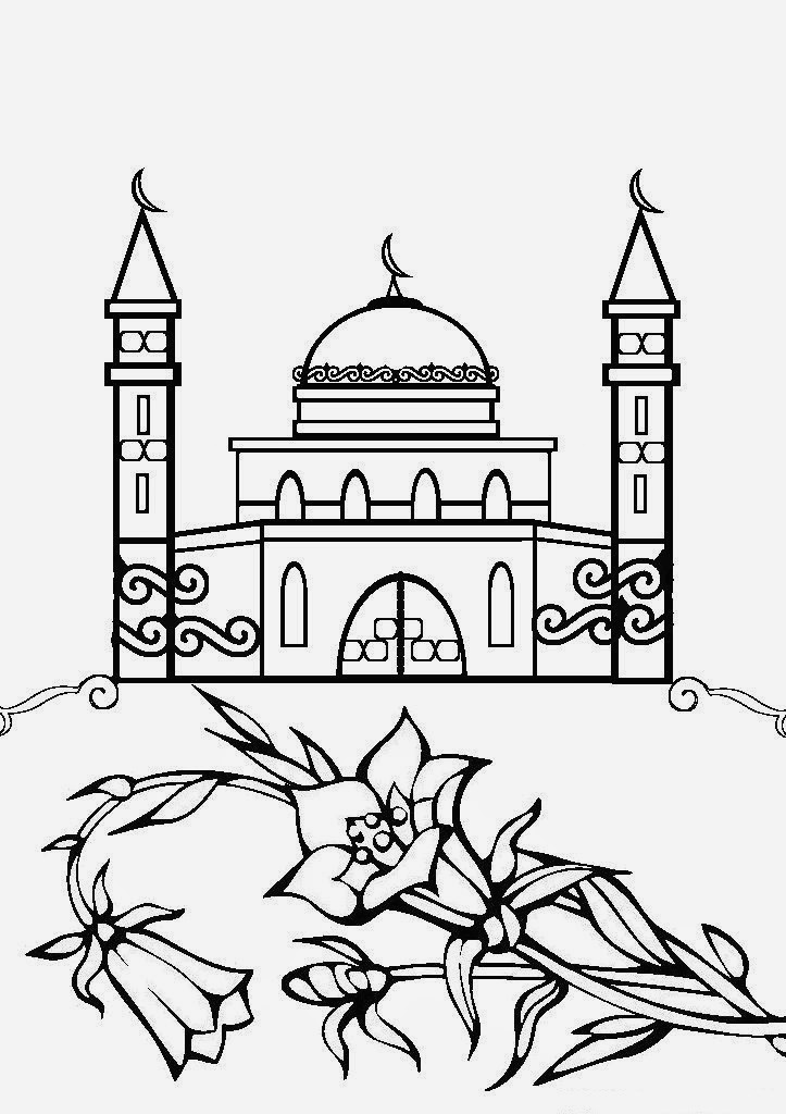 mosque drawing for kids 30