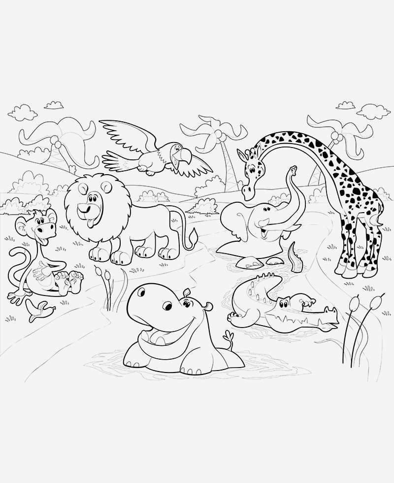 Coloriage Animaux De La Jungle Gratuit New Coloriage Géant Animaux De La Jungle Of Coloriage Animaux De La Jungle Gratuit