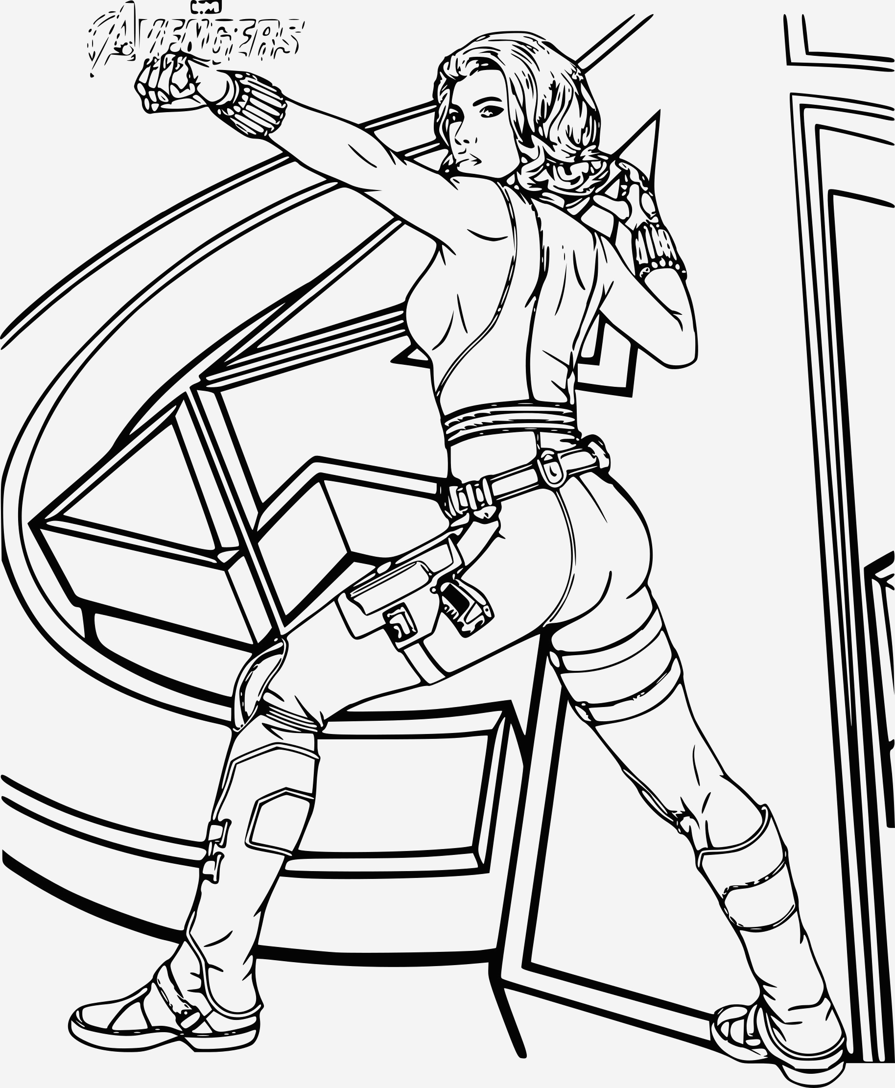 Coloriage Avengers à Imprimer Beautiful Coloriage Avengers Black Widow   Imprimer Of Coloriage Avengers à Imprimer