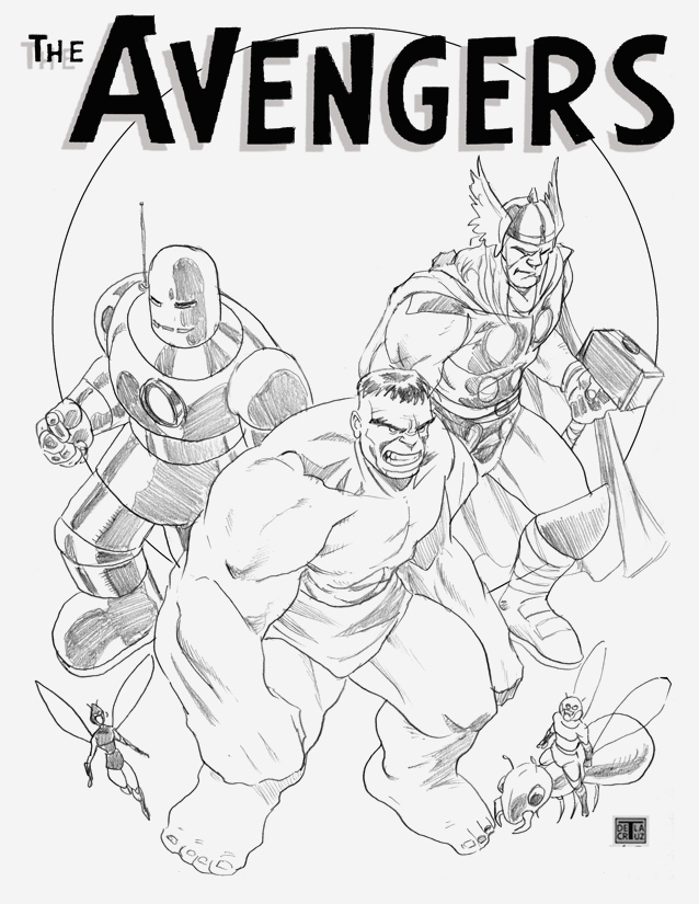 Personnages celebres ics Avengers