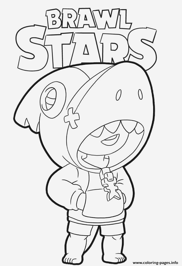 Coloriage Brawl Stars Corbac Awesome Shark Leon Brawl Stars Coloring Pages Printable Of Coloriage Brawl Stars Corbac