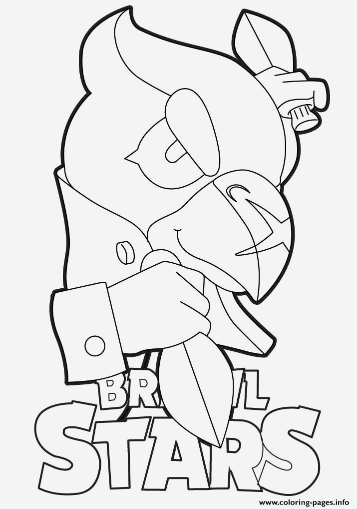 Coloriage Brawl Stars Corbac Unique Crow Brawl Stars Coloring Pages Printable Of Coloriage Brawl Stars Corbac