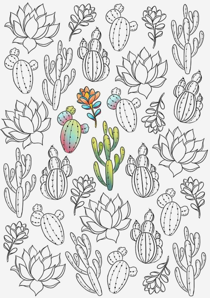 Coloriage Cactus A Imprimer Beautiful ▷ 1001 Pages De Coloriage Anti Stress Pour Garder L Of Coloriage Cactus A Imprimer