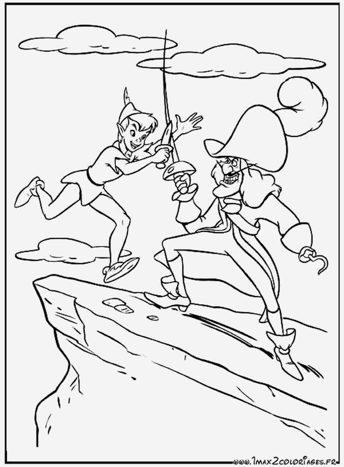 Coloriage Capitaine Crochet à Imprimer Gratuit Lovely Coloriage Peter Pan Et Le Capitaine Crochet Battent   L Of Coloriage Capitaine Crochet à Imprimer Gratuit