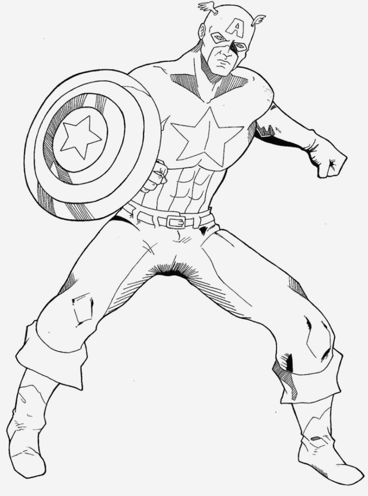 Coloriage Captain America Best Of Captain America Coloring Pages Of Coloriage Captain America