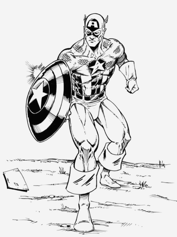 Coloriage Captain America Elegant Avengers Captain America Coloring Pages Coloring Home Of Coloriage Captain America