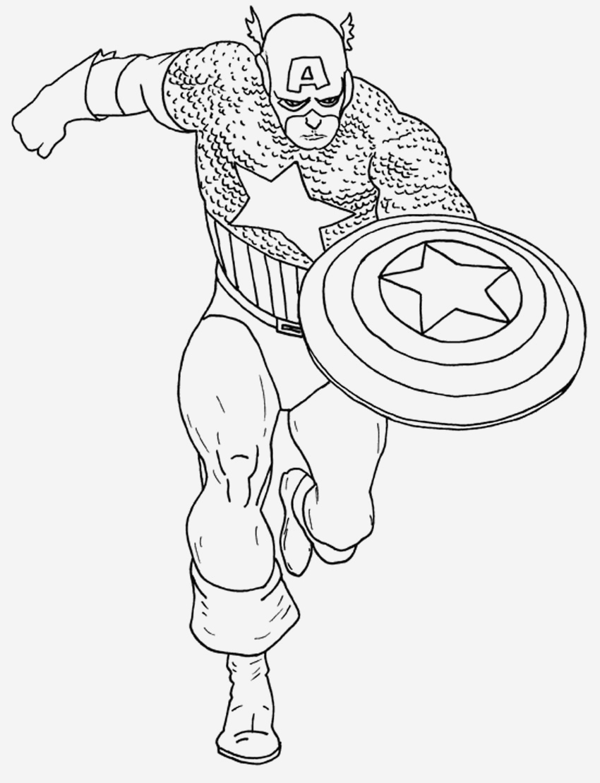 Coloriage Captain America Elegant Captain America 11 Superheroes – Printable Coloring Pages Of Coloriage Captain America