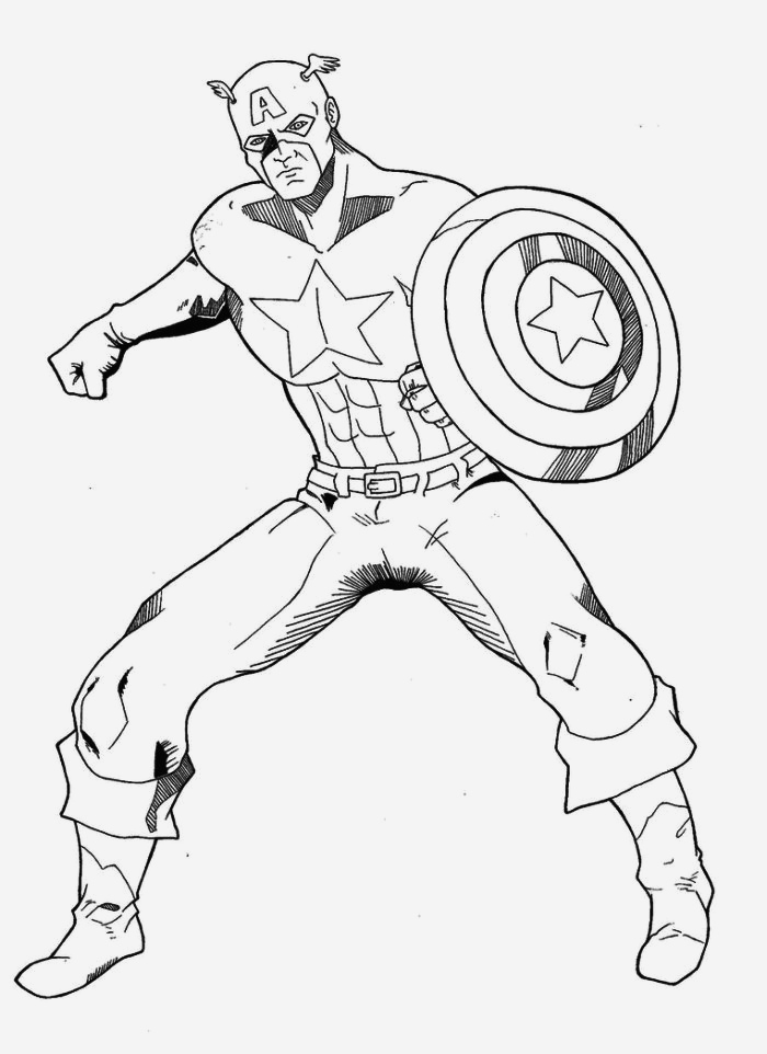 Coloriage Captain America Inspirational Captain America Coloring Pages Of Coloriage Captain America