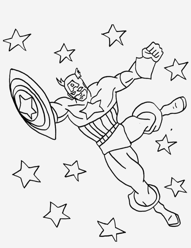 Coloriage Captain America Lovely Captain America 41 Superheroes – Printable Coloring Pages Of Coloriage Captain America