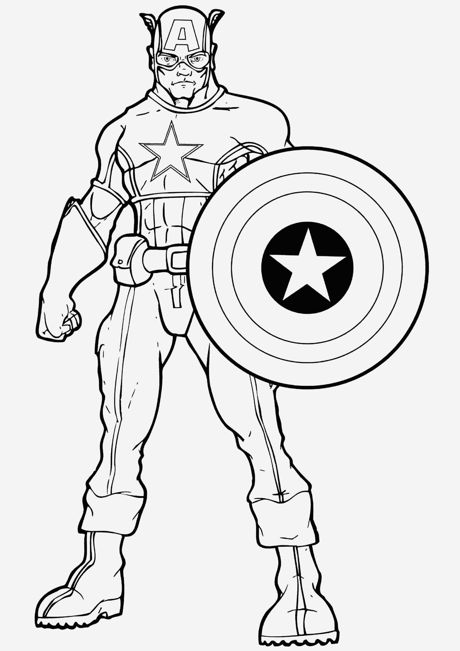 Coloriage Captain America Lovely Captain America Captain America Kids Coloring Pages Of Coloriage Captain America