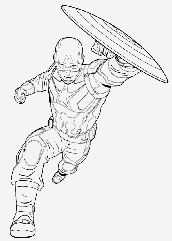 Coloriage Captain America Lovely Coloriage 2 De Captain America Civil War Of Coloriage Captain America