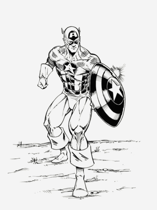 Coloriage Captain America New Coloriage Captain America Vectoriel Dessin Gratuit   Imprimer Of Coloriage Captain America