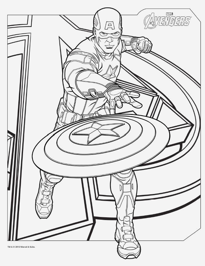 Coloriage Captain America New Download Avengers Coloring Pages Here Captainamerica