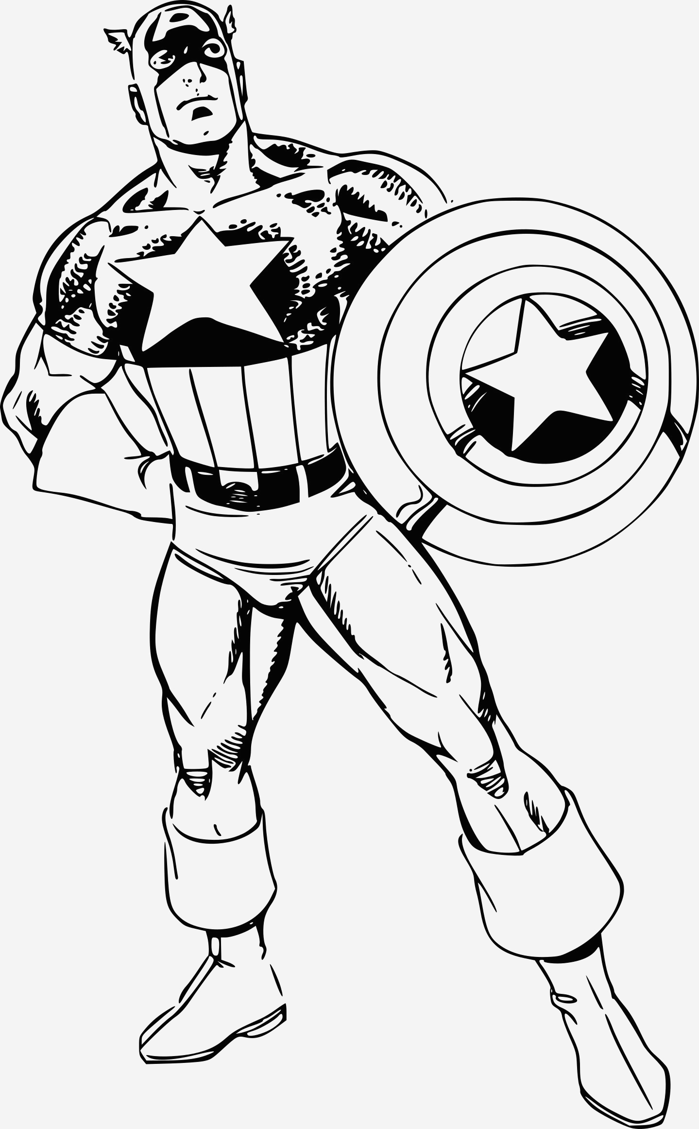 Coloriage Captain America Unique Coloriage Super Héros Capain America   Imprimer Sur Of Coloriage Captain America