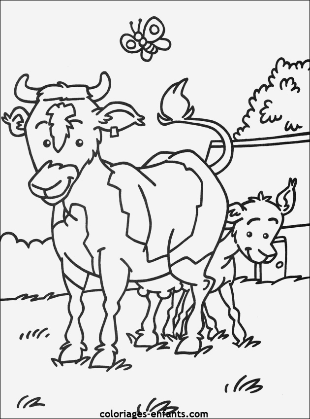 Coloriage D Animaux De Vache Luxury Coloriage De Vaches Sur Coloriages Enfants Of Coloriage D Animaux De Vache