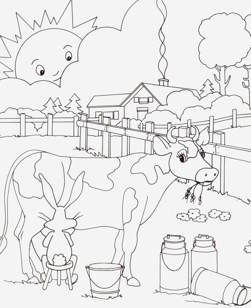 Coloriage D Animaux De Vache Luxury Coloriage Vache   Imprimer – Kewlfr Of Coloriage D Animaux De Vache