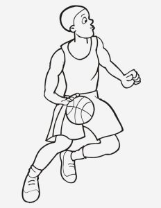 Coloriage De Basketball à Imprimer Gratuit Unique 31 Dessins De Coloriage Basketball   Imprimer
