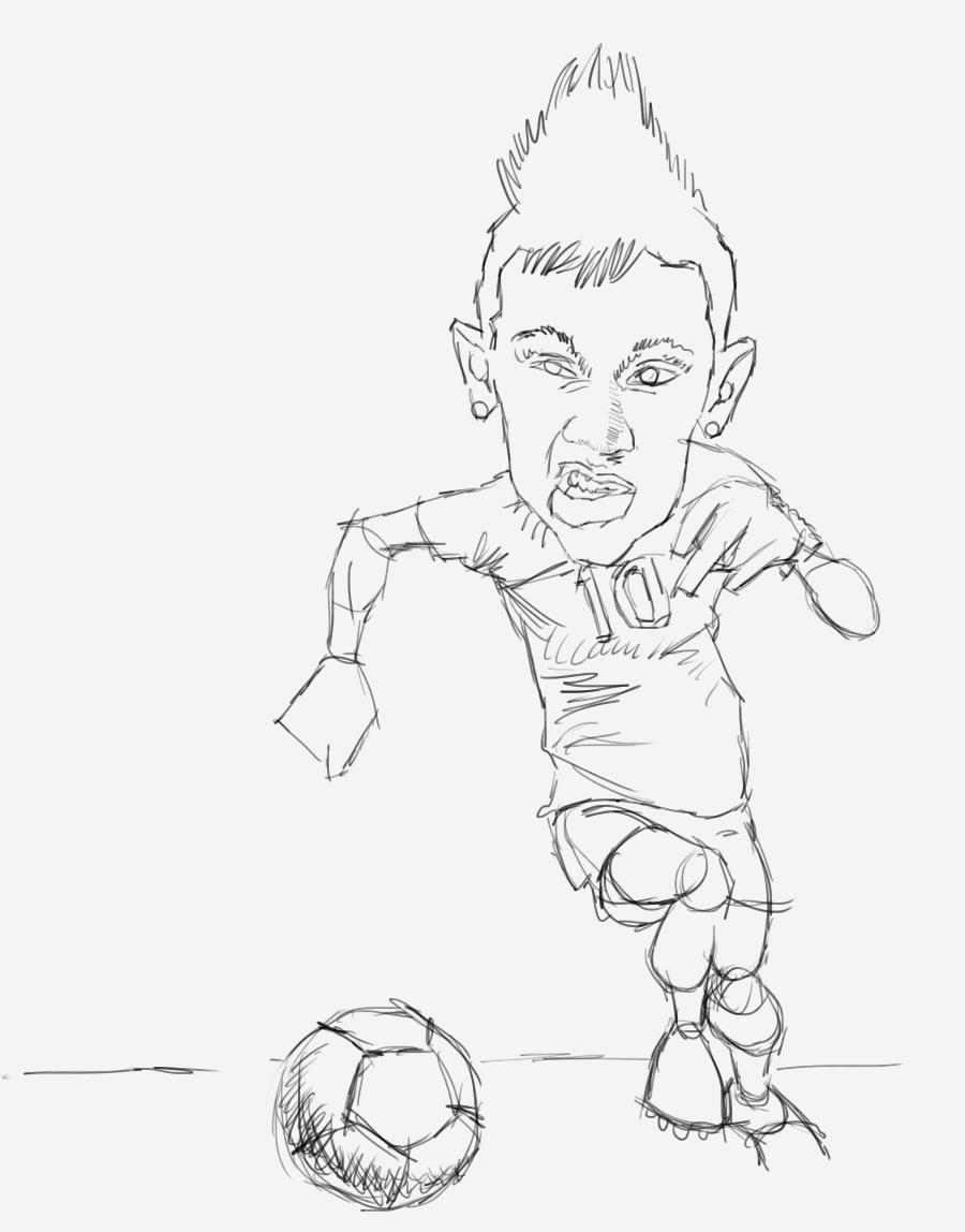 Coloriage De Footballeur Best Of Les Fans Du Foot Of Coloriage De Footballeur