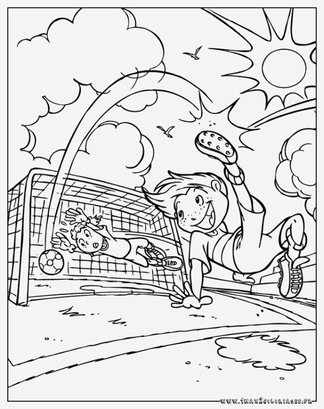 Coloriage De Footballeur Inspirational Coloriage Foot but Dessin Gratuit   Imprimer Of Coloriage De Footballeur