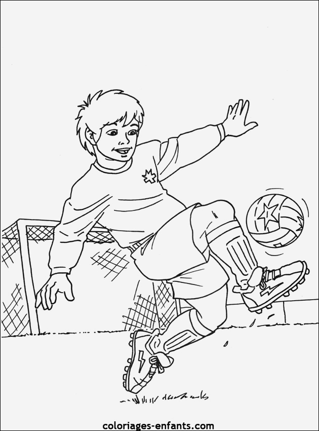 Coloriage De Footballeur Inspirational Les Coloriages De Football   Imprimer Of Coloriage De Footballeur