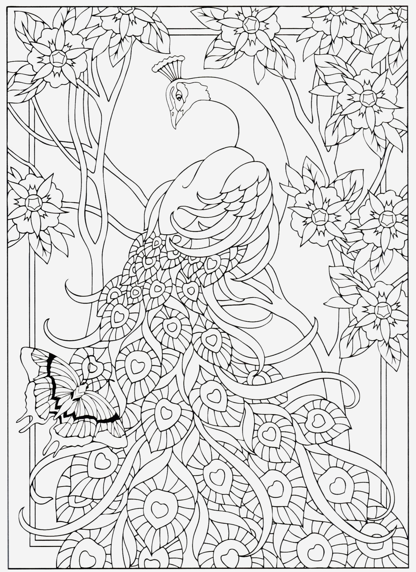 Coloriage De Paon Gratuit A Imprimer Best Of Creative Haven S Peacock Designs Of Coloriage De Paon Gratuit A Imprimer
