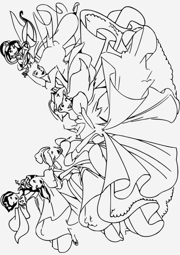 Coloriage De Princesses Disney A Imprimer Beautiful Coloriage204 Coloriage Princesse Disney Gratuit Of Coloriage De Princesses Disney A Imprimer