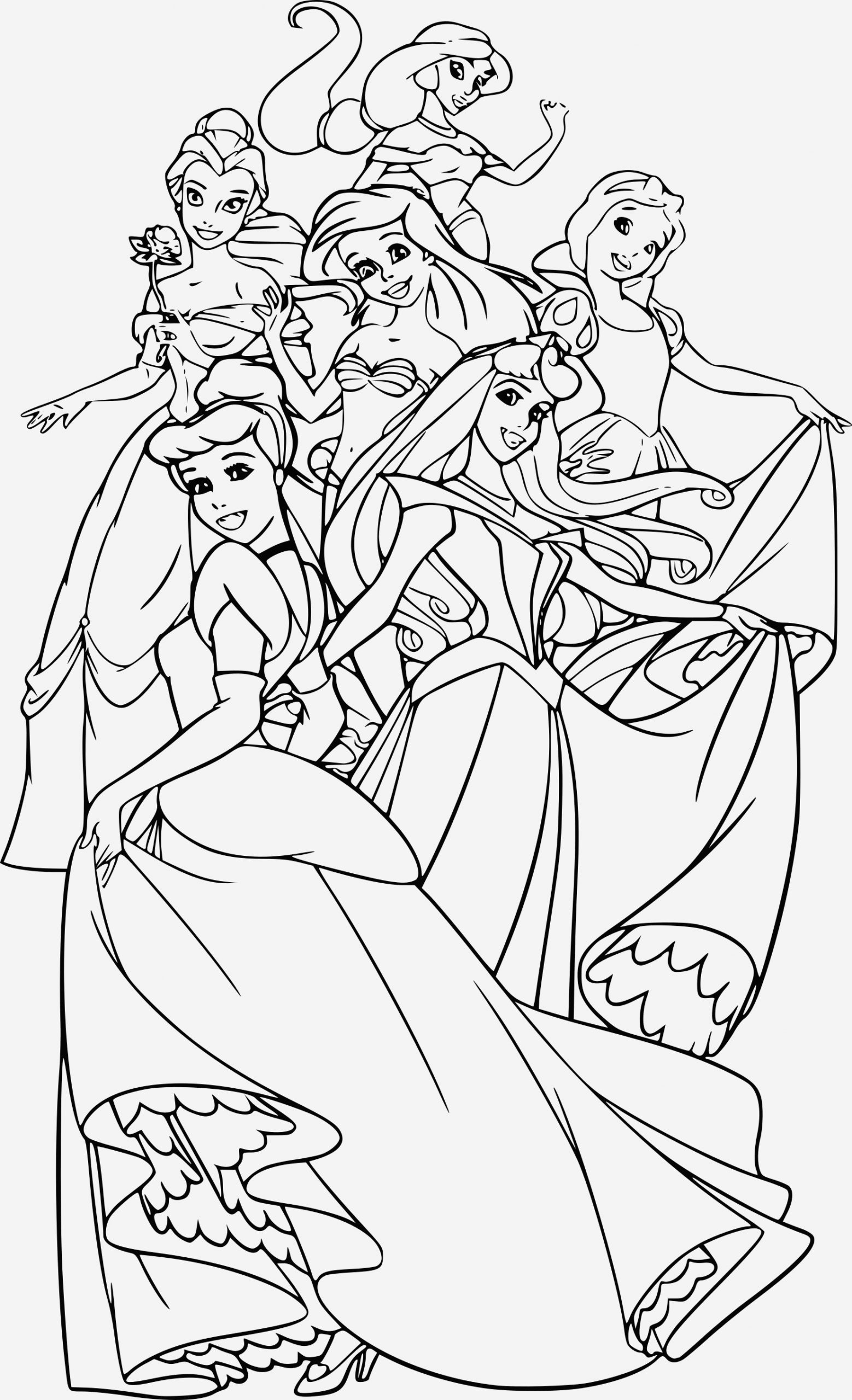 Coloriage Princesse Disney A Imprimer Pdf Archives Coloriages