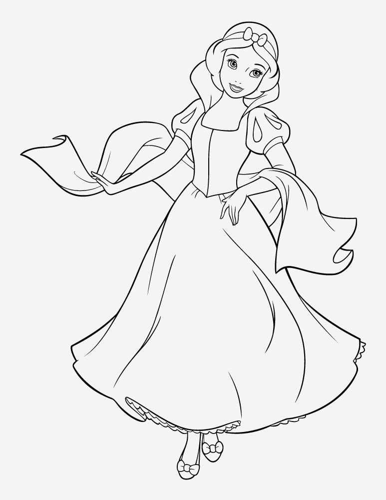 Coloriage De Princesses Disney A Imprimer