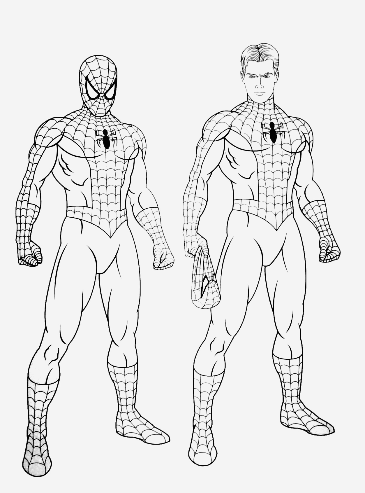 Coloriage De Spiderman Awesome Spiderman Free to Color for Kids Spiderman Kids Coloring Pages Of Coloriage De Spiderman