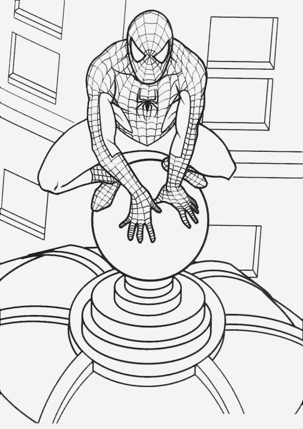 Coloriage De Spiderman Best Of Spiderman 166 Super Héros – Coloriages   Imprimer Of Coloriage De Spiderman