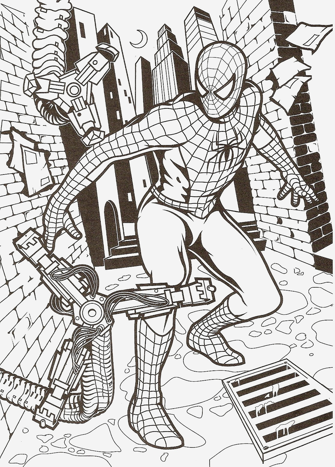 Coloriage De Spiderman Elegant Coloriage Spiderman Gratuit Colorier Dessin Imprimer Of Coloriage De Spiderman