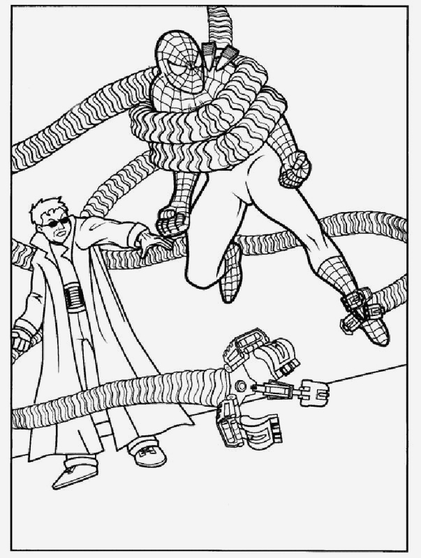 Coloriage De Spiderman Luxury Coloriage De Spiderman Dessin Spiderman Est Fait Prisonnier Of Coloriage De Spiderman