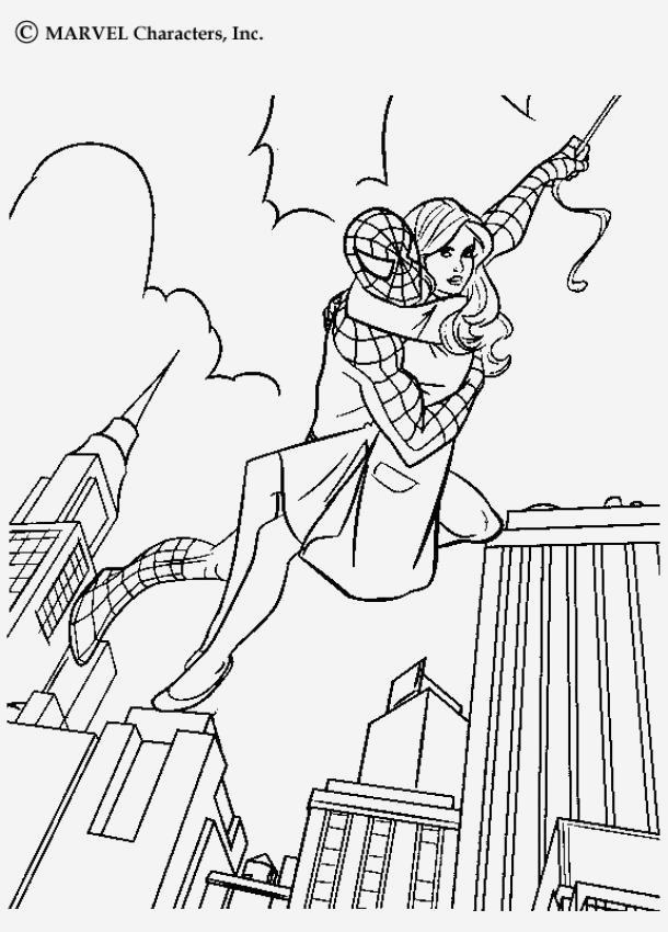 Coloriage De Spiderman Luxury Coloriage Spiderman Dans La Ville Et Dessin Colorier Of Coloriage De Spiderman