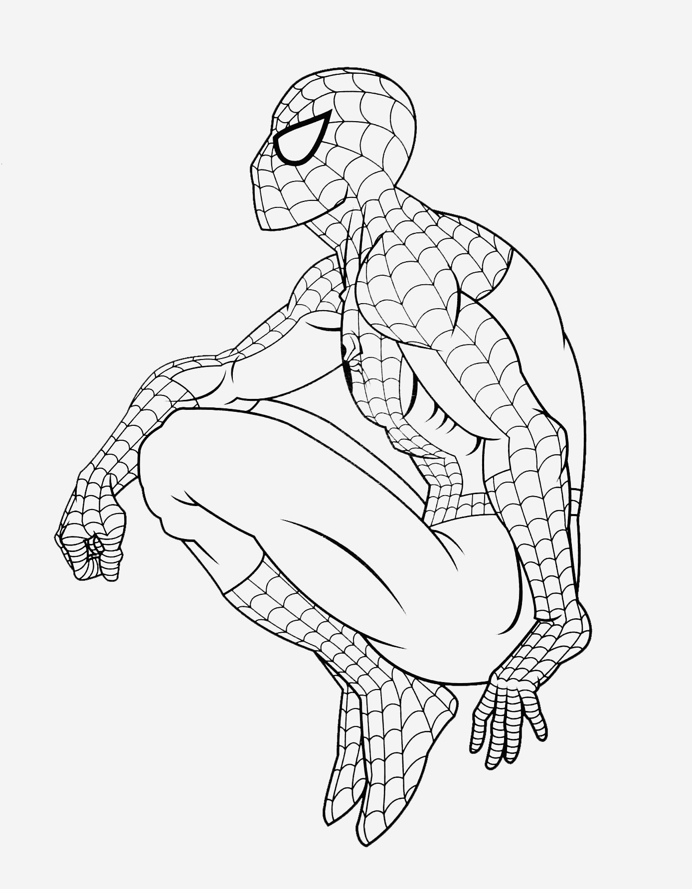 Coloriage De Spiderman Unique Coloriage De Spiderman   Telecharger Gratuitement Of Coloriage De Spiderman