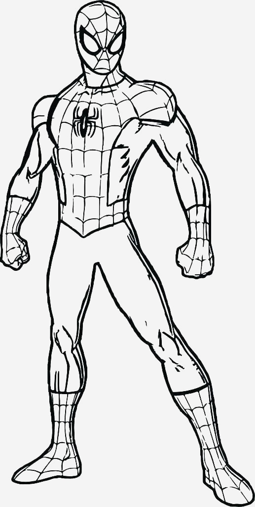 Coloriage De Spiderman Unique Spiderman Outline Drawing at Paintingvalley Of Coloriage De Spiderman