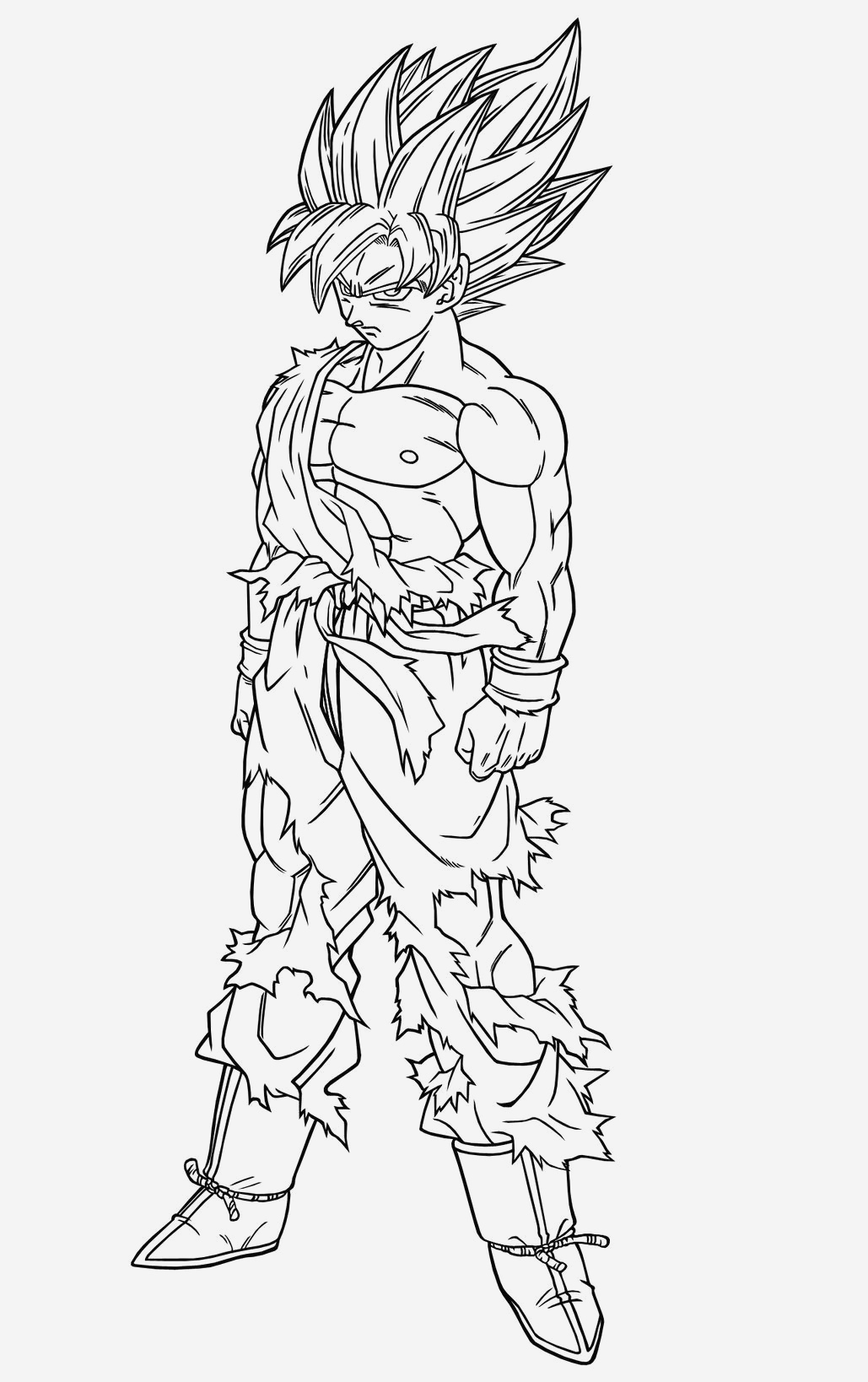 Coloriage Dragon Ball Z Super Saiyan A Imprimer