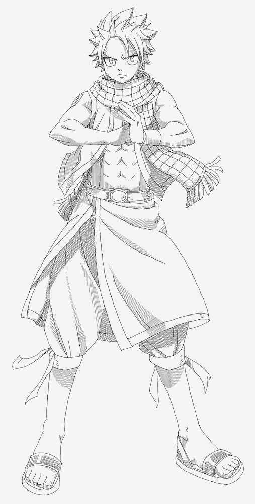 Coloriage Fairy Tail A Imprimer Fresh Fairy Tail Natsu Drawing Full Body Of Coloriage Fairy Tail A Imprimer