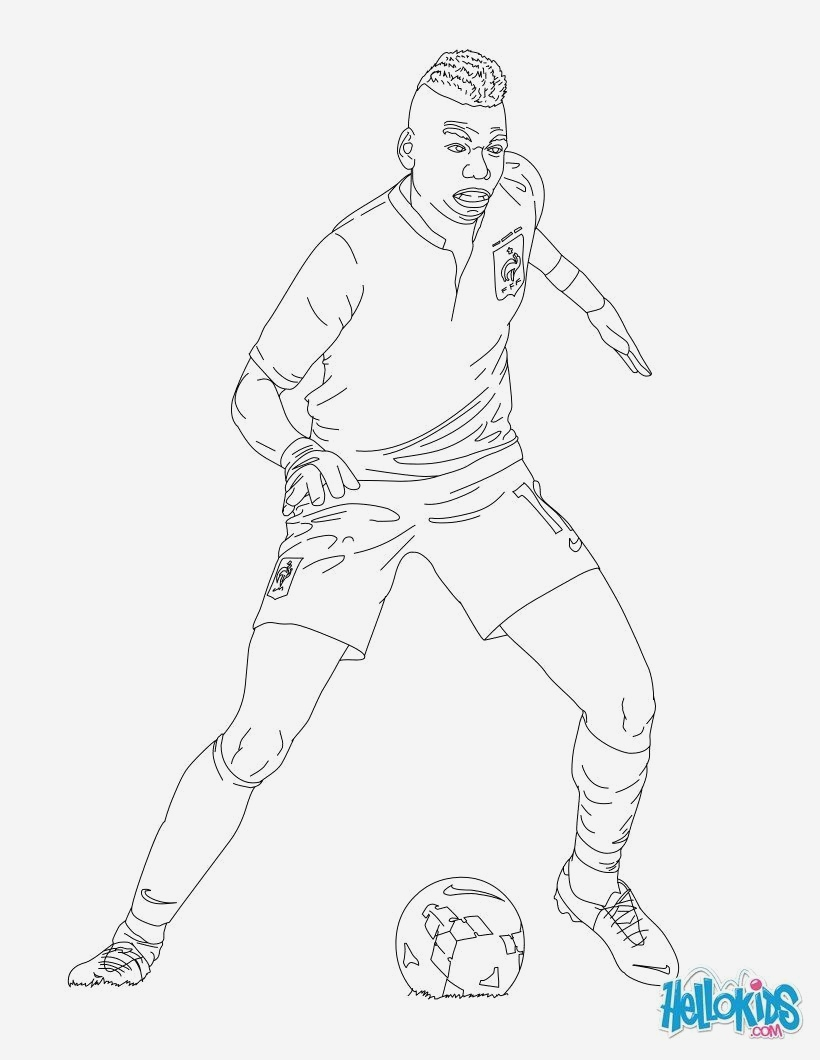 Coloriage Kylian Mbappe A Imprimer Awesome Paul Pogba Coloring Page to Color Of Coloriage Kylian Mbappe A Imprimer