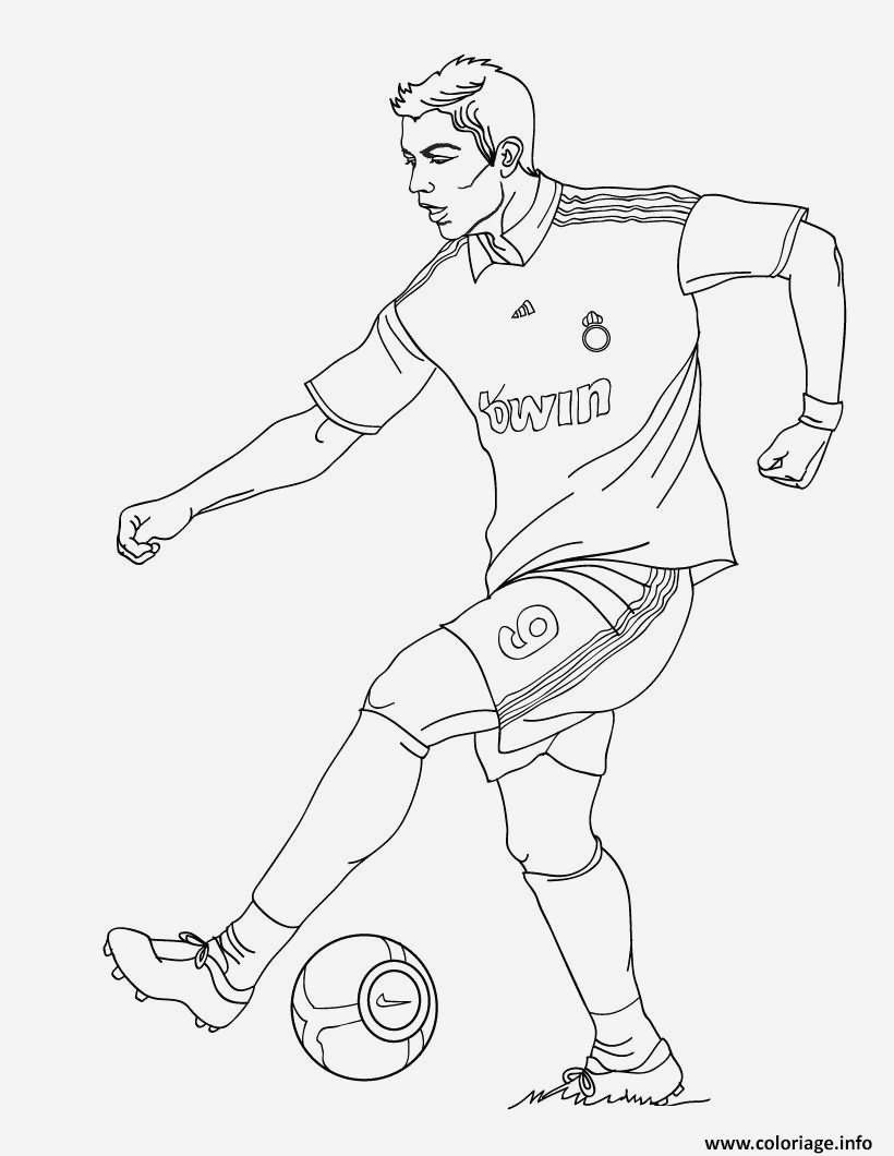 Coloriage Kylian Mbappe A Imprimer Luxury Coloriage Cristiano Ronaldo Football Real Madrid Cr7 Of Coloriage Kylian Mbappe A Imprimer