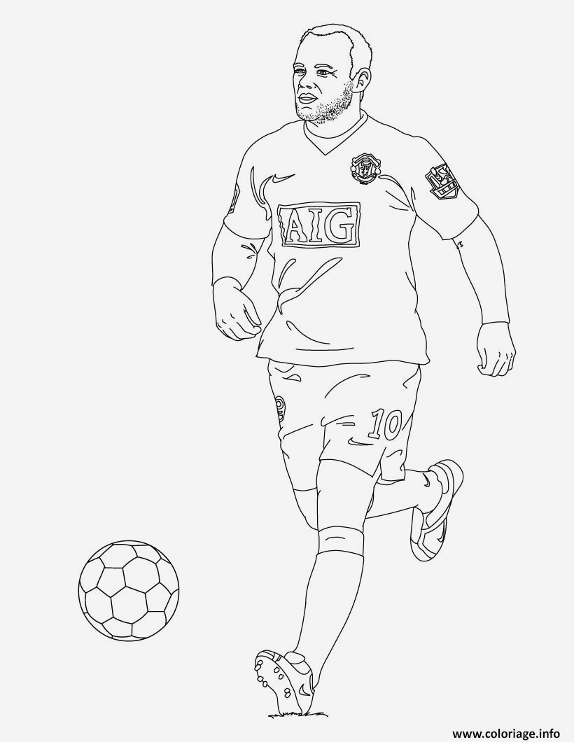 Coloriage Kylian Mbappe A Imprimer Luxury Coloriage Wayne Rooney Football Dessin Of Coloriage Kylian Mbappe A Imprimer