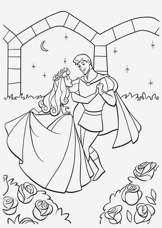 Coloriage La Belle Au Bois Dormant Beautiful Coloriage La Belle Au Bois Dormant Et Le Prince Img Of Coloriage La Belle Au Bois Dormant