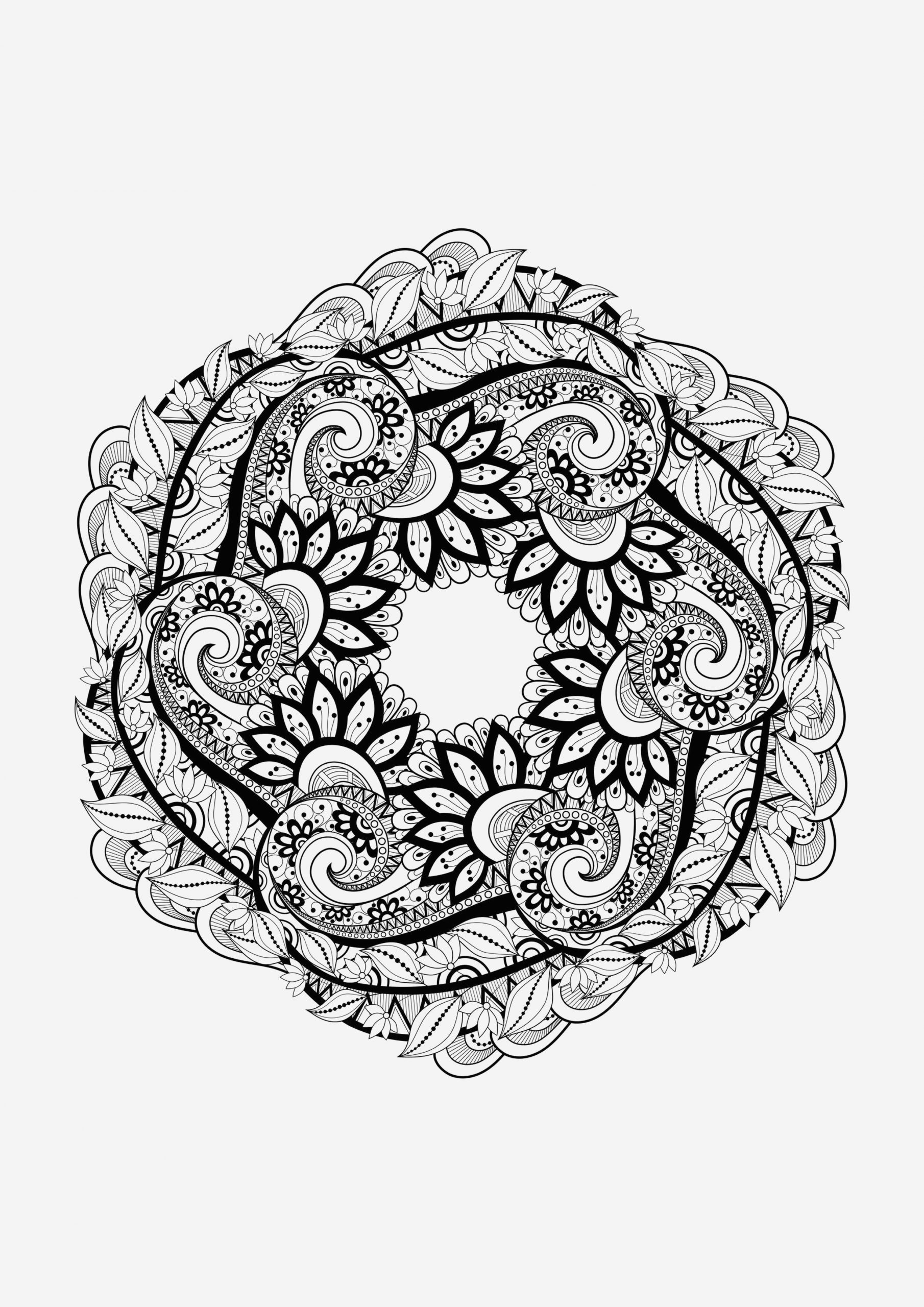 Coloriage Mandala Adulte à Imprimer Awesome Mandala 1 Mandalas Coloriages Difficiles Pour Adultes Of Coloriage Mandala Adulte à Imprimer