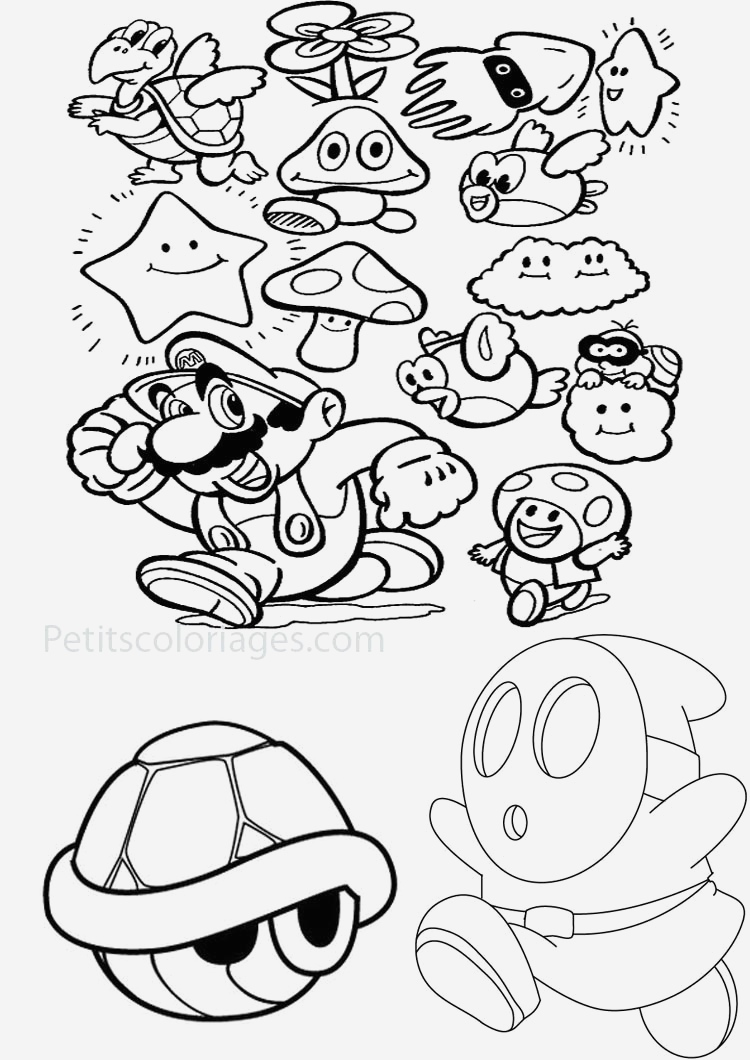 Coloriage Mario Kart Beautiful Mario Bonus and Monster In the Games Mario Bros Kids Of Coloriage Mario Kart