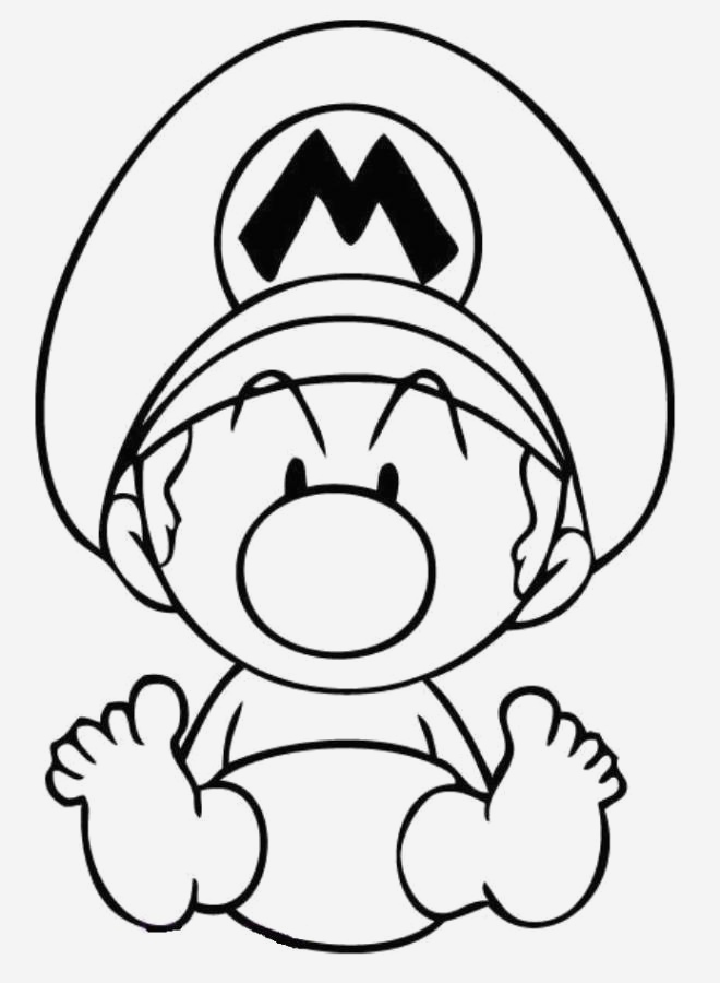 Coloriage Mario Kart Luxury Free Mario Line Coloring Download Free Clip Art Free Of Coloriage Mario Kart