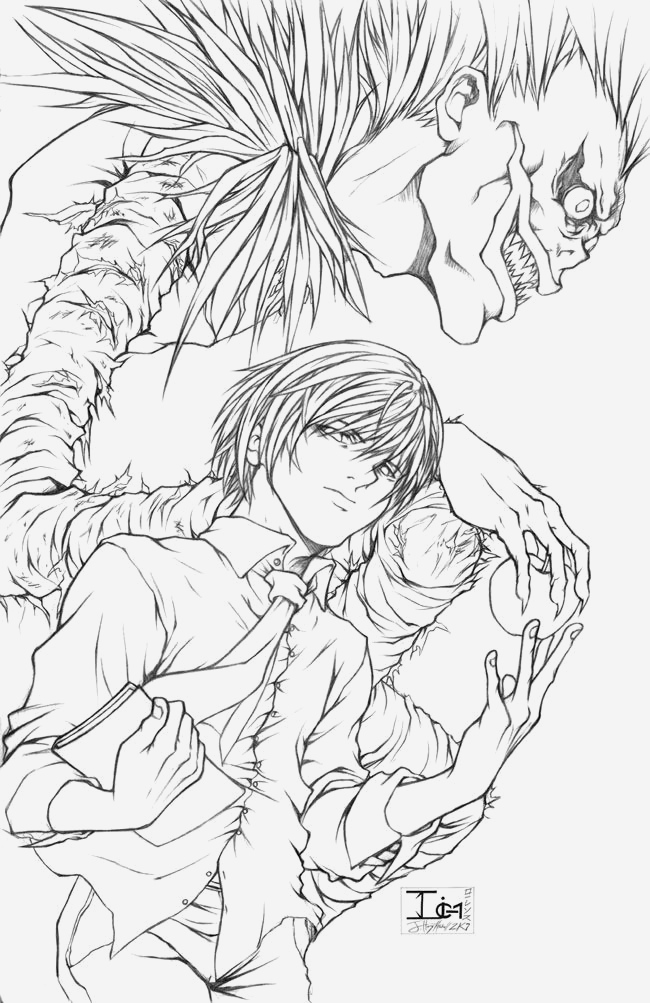 Coloriage My Hero Academia A Imprimer Elegant Deathnote Light and Ryuk by Darkchildx2k Of Coloriage My Hero Academia A Imprimer