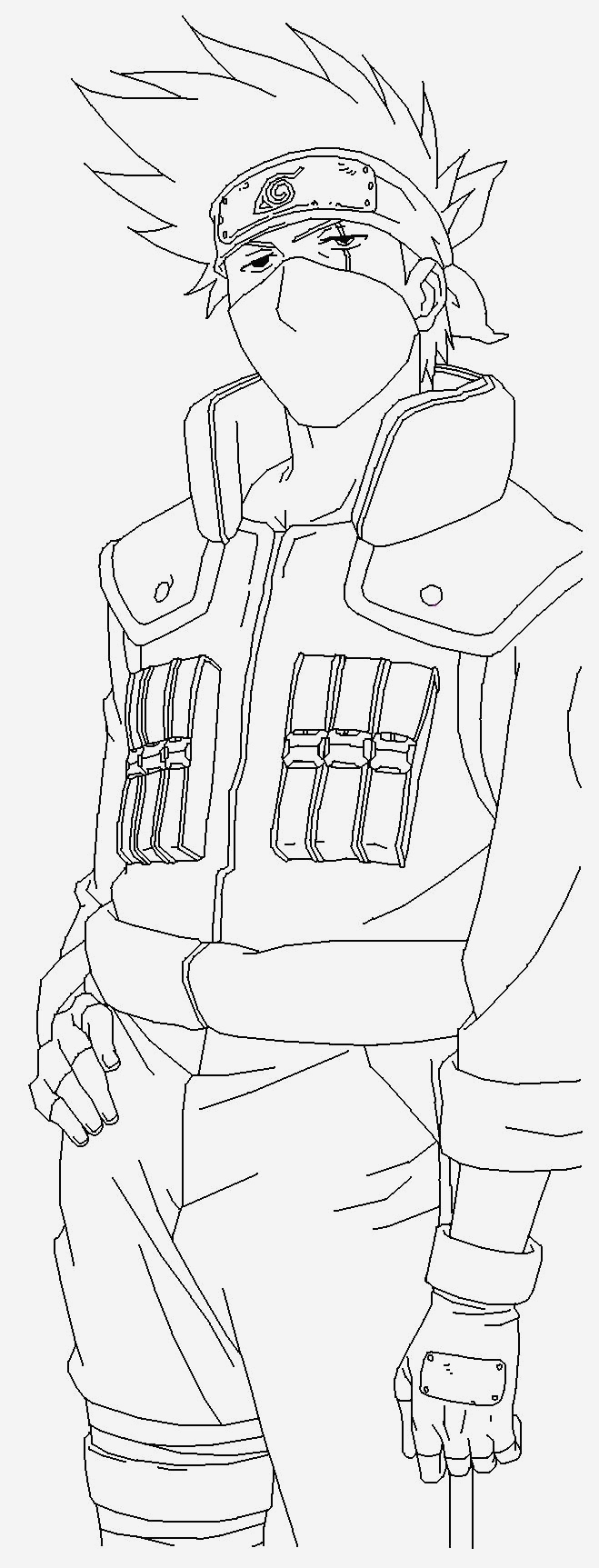 Coloriage Naruto Et Kakashi Lovely Kakashi Hatake Blank by Usagisailormoon20 On Deviantart Of Coloriage Naruto Et Kakashi
